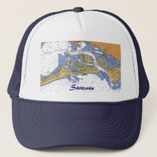 Sarasota、フロリダ航海のな港の図表の帽子 キャップ