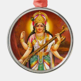 Saraswatiのオーナメント-バージョン2 メタルオーナメント