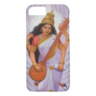 Saraswatiのヒンズー教の女神のiPhone 7の場合 iPhone 8/7ケース