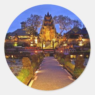 Saraswatiの寺院、Ubudバリ島インドネシア ラウンドシール