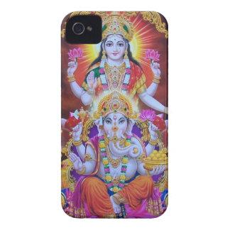saraswatiのganeshのgodnessの神の平和インド Case-Mate iPhone 4 ケース