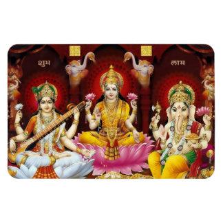 Saraswati、Lakshmi、及びGanesha Flexiの磁石 マグネット