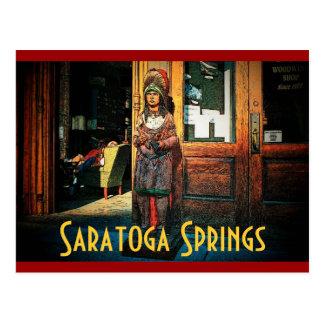 Saratogaのシガー店の郵便はがき ポストカード