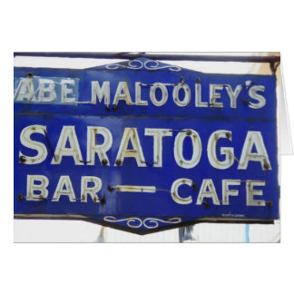 Saratogaのヴィンテージのレストランの印、Terre Haute、 カード