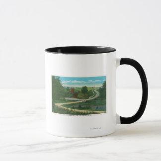 Saratogaの戦場の中間峡谷の眺め マグカップ