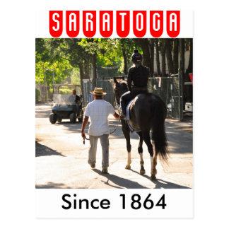 Saratogaの早朝のトレーニング ポストカード