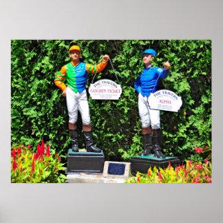 Saratogaの画像的なTraverの棒の芝生のジョッキー ポスター
