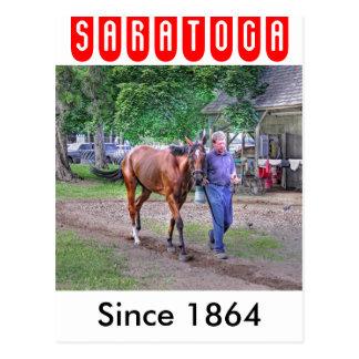 """Saratogaの馬小屋""""馬避難所"""" ポストカード"""