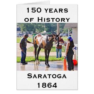 Saratoga -馬の避難所 カード