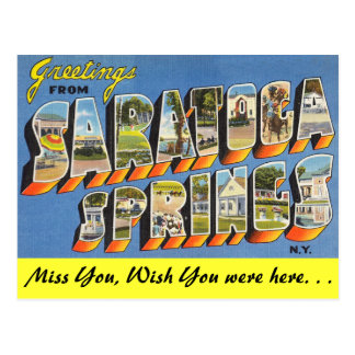 Saratoga Springsからの挨拶 ポストカード