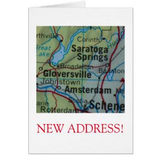 Saratoga Springsの新しい住所発表 カード