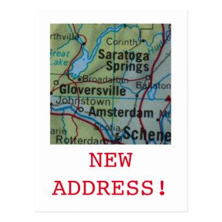Saratoga Springsの新しい住所発表 ポストカード