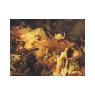 Sardanapalusの死 キャンバスプリント