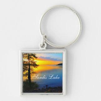 Sardis湖の日没-ミシシッピー- Keychain キーホルダー