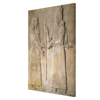 Sargon IIおよび宰相を描写するレリーフ、浮き彫り キャンバスプリント