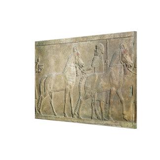 Sargon IIの支流を描写するレリーフ、浮き彫り キャンバスプリント