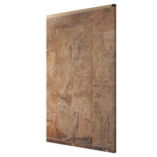 Sargon IIを描写するレリーフ、浮き彫り キャンバスプリント