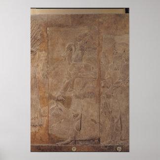 Sargon IIを描写するレリーフ、浮き彫り ポスター