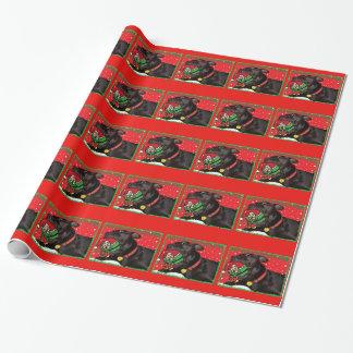 Sasha犬のクリスマスの包装紙 ラッピングペーパー