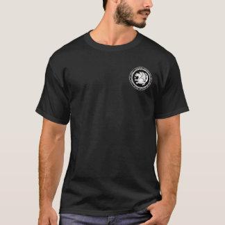 Sassanid帝国黒く及び白いシールのワイシャツ Tシャツ