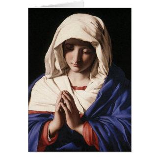 """Sassoferrato (1640年)著祈りの言葉のヴァージン"" カード"