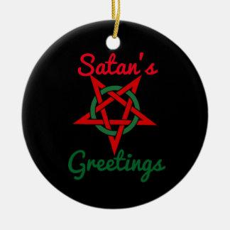 Satanの挨拶のオーナメント セラミックオーナメント