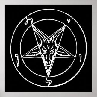 SatanのBaphomet教会のSigil ポスター