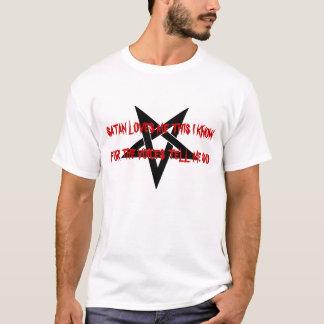 Satanは私を五芒星のワイシャツ愛します Tシャツ