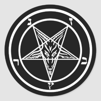 Satan Baphomet ラウンドシール