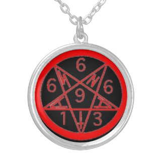 Satanigram シルバープレートネックレス
