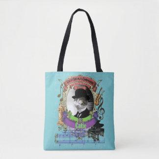 Satie Catieのおもしろいでかわいい猫の動物作曲家 トートバッグ
