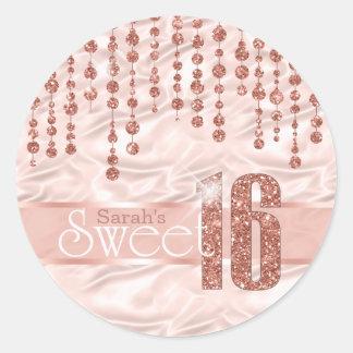 Satin Jewel Sweet Sixteen Rose Gold ID260 ラウンドシール
