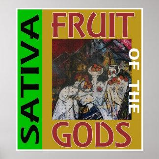 SATIVA神のフルーツ ポスター