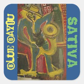 SATIVA青いバイユー スクエアシール