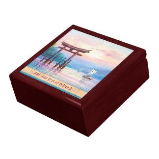 Satta宮島Toriiおよびヨットの日本人の芸術 ギフトボックス