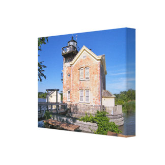 Saugertiesの灯台、ハドソン川ニューヨーク キャンバスプリント