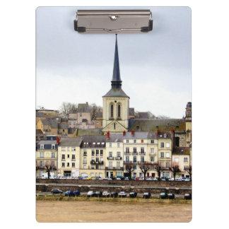 Saumurの河岸場面クリップボード クリップボード