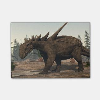 Sauropeltaの恐竜- 3Dは描写します ポストイット