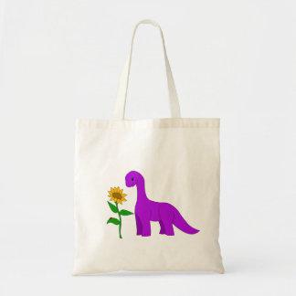 Sauropodおよびヒマワリ トートバッグ