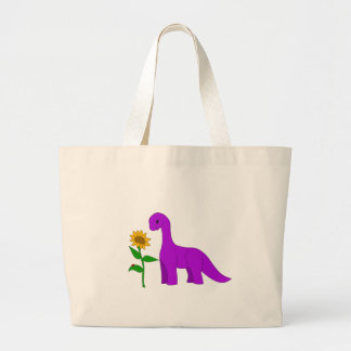 Sauropodおよびヒマワリ ラージトートバッグ