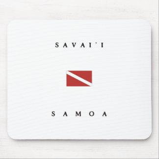 Savaiiサモアのスキューバ飛び込みの旗 マウスパッド