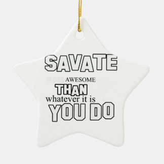savateのデザイン 陶器製星型オーナメント