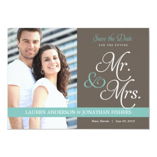 Save Date未来の氏および夫人 カード