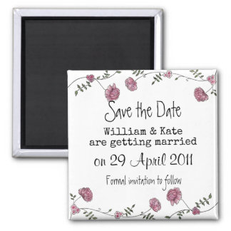 Save the date floral magnet マグネット