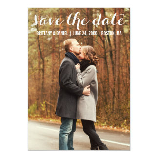 Save The Date Modern Engagement Card WBL カード