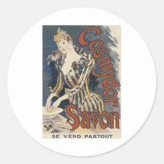 Savonの石鹸ポスター ラウンドシール