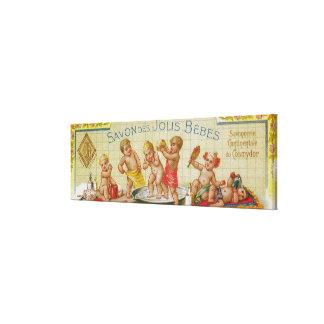 Savon Des Jolis Bebesの石鹸LabelParis、フランス キャンバスプリント