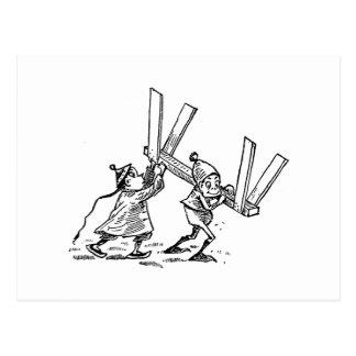 Sawhorseを運ぶブラウニー ポストカード