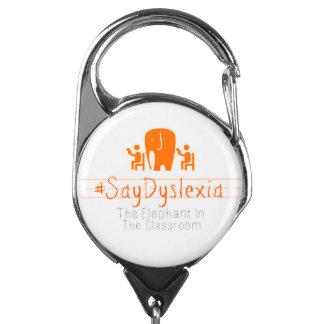 #SayDyslexiaの引き込み式のバッジホールダー IDカードホルダー
