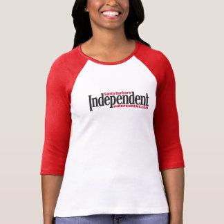 SBのIndyの女性の長袖のTシャツの赤 Tシャツ